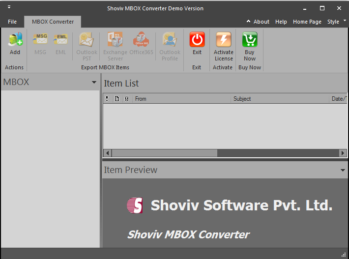MBOX to PST Converter 18.03